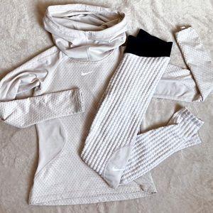 Nike Pro Hyperwarm leggings and hoodie set xs